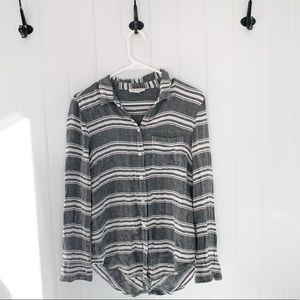 Beachlunchlounge Striped Long Sleeve Flannel